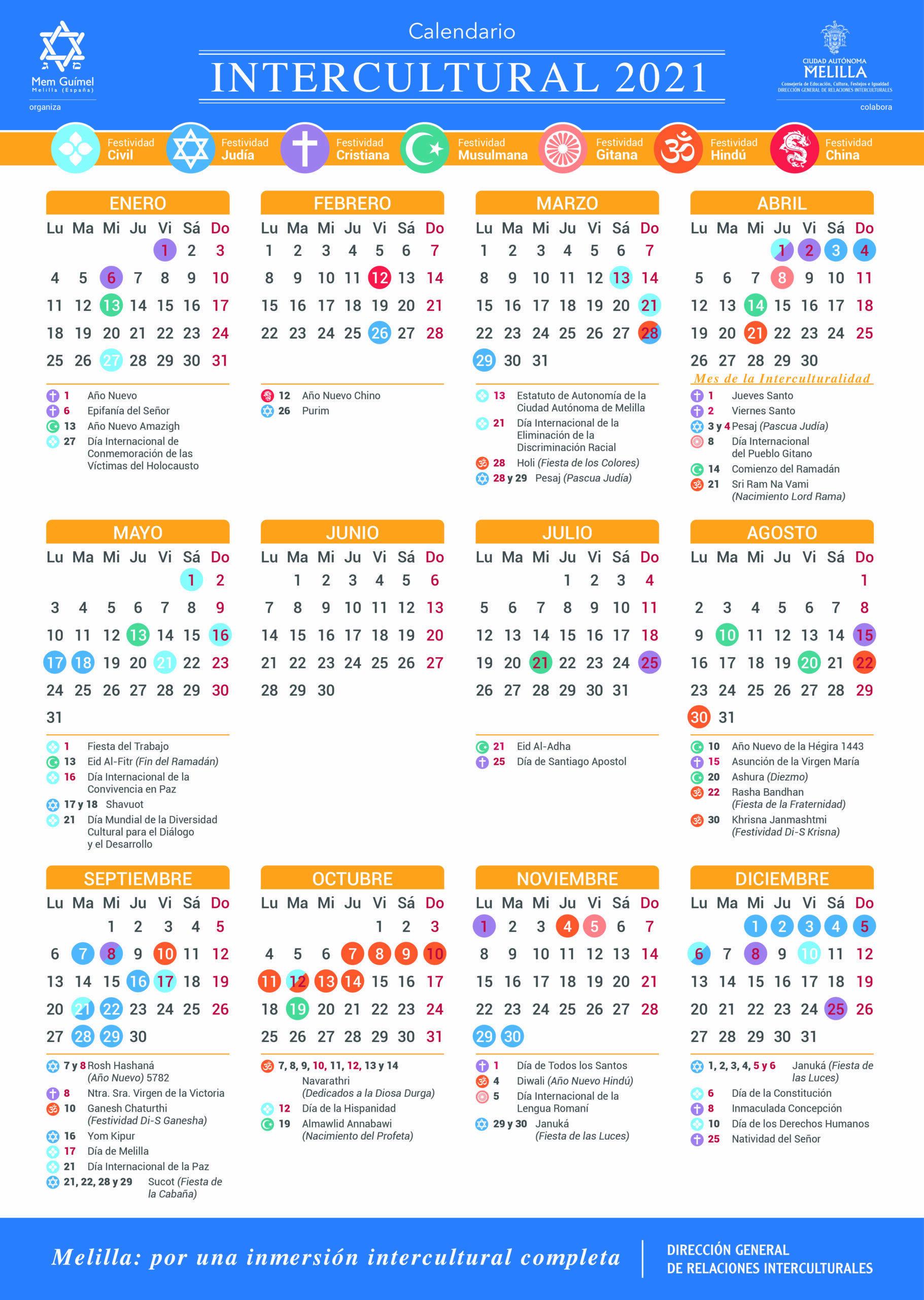 Calendario Intercultural 2021