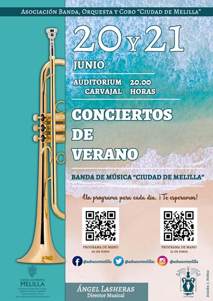 Conciertos de verano de la Banda de Música «Ciudad de Melilla»